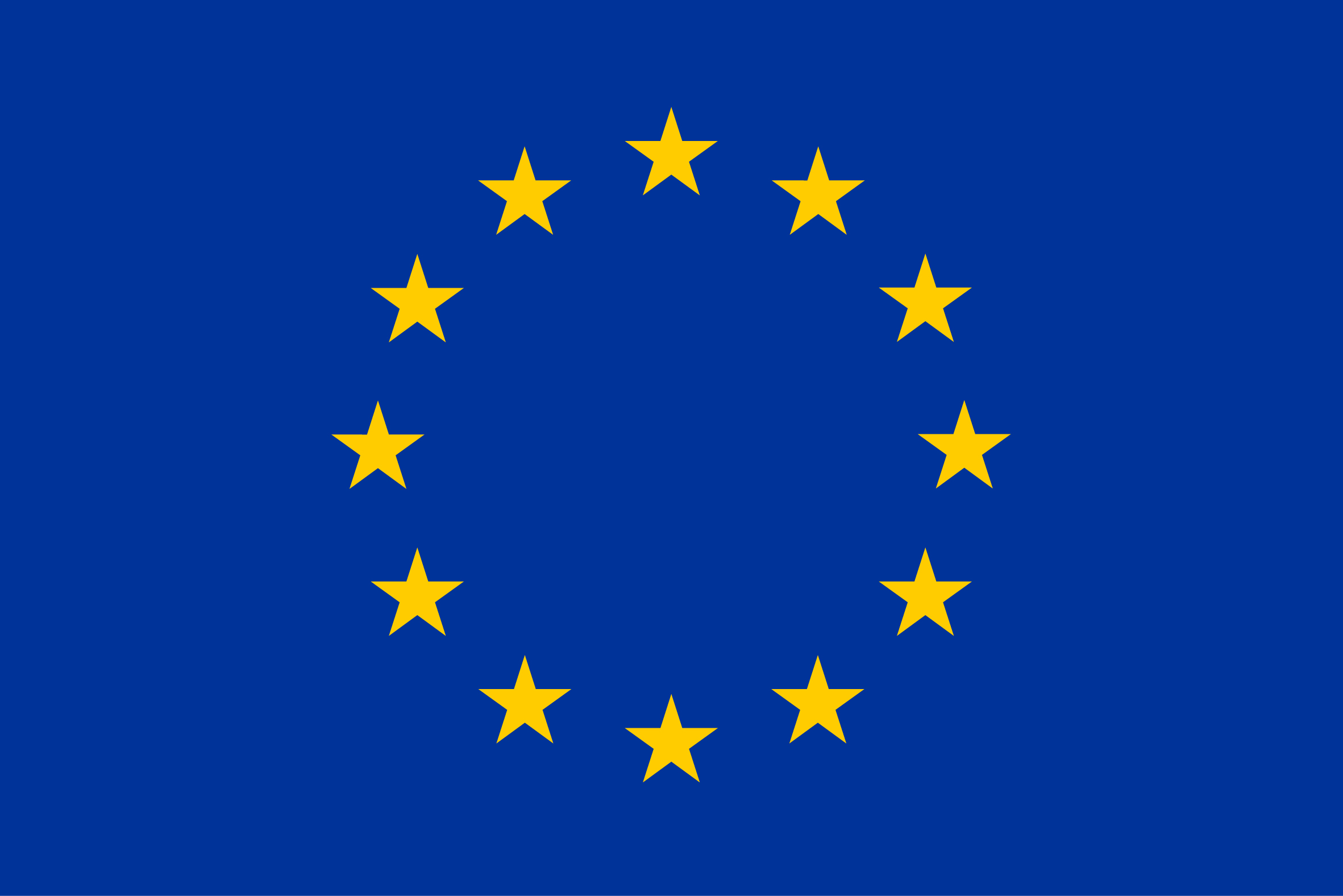 EU flag yellow high